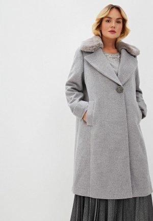 Пальто Elena Miro. Цвет: серый