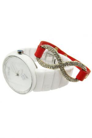 Набор: часы, браслет BORA. Цвет: белый