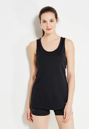 Майка спортивная Nike W NK TANK SLIM CUT OUT. Цвет: черный
