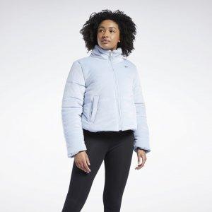 Утепленная куртка Studio Reebok. Цвет: gable grey