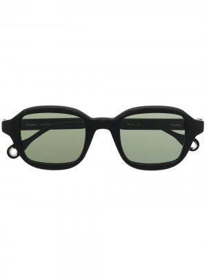 Солнцезащитные очки Illusion Etudes. Цвет: черный
