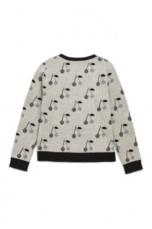 Шерстяной бежевый пуловер Bonpoint. Цвет: бежевый