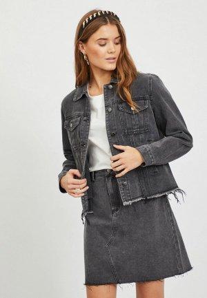 Куртка джинсовая Vila. Цвет: серый