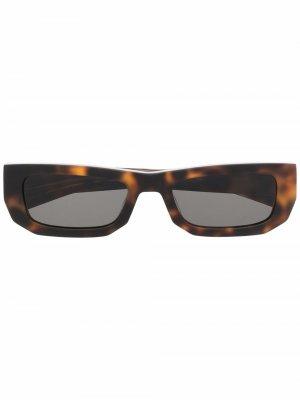Солнцезащитные очки в прямоугольной оправе FLATLIST. Цвет: коричневый