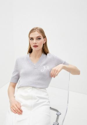 Пуловер MM6 Maison Margiela. Цвет: серый