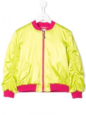 Двухцветная куртка-бомбер Alberta Ferretti Kids