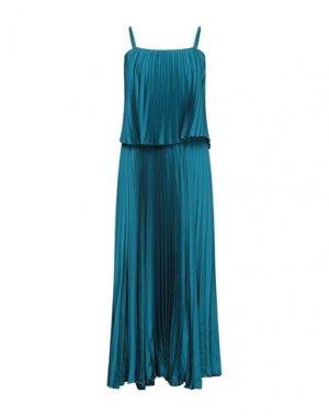 Длинное платье DIXIE. Цвет: цвет морской волны