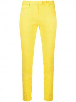 Укороченные брюки кроя слим Dondup. Цвет: желтый