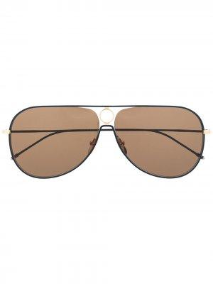 Солнцезащитные очки-авиаторы TBS115 Thom Browne Eyewear. Цвет: золотистый