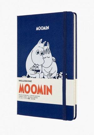 Блокнот Moleskine LIMITED EDITION MOONIM. Цвет: синий