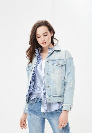Куртка джинсовая B.Style. Цвет: голубой