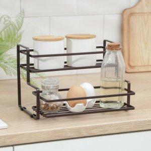 Полка кухонная для банок и специй 26х20х17 см, цвет коричневый Доляна