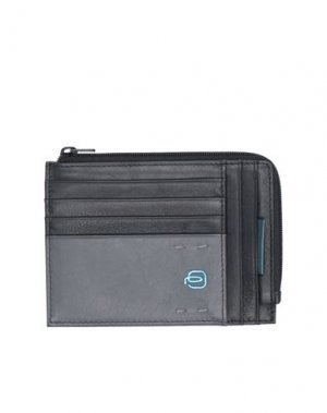 Бумажник PIQUADRO. Цвет: стальной серый