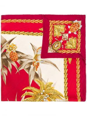 Шарф с принтом Cartier. Цвет: красный