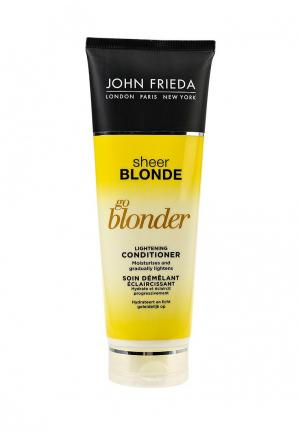 Кондиционер для волос John Frieda Sheer Blonde Go Blonder осветляющий натуральных, мелированных и окрашенных светлых 250 мл. Цвет: прозрачный