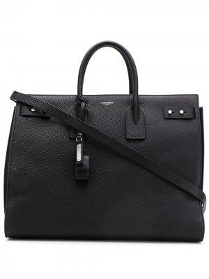 Большая сумка-тоут Sac de Jour Saint Laurent. Цвет: черный