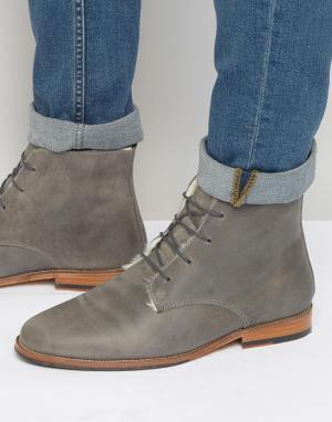 Ботинки на меховой подкладке со шнуровкой LExplorateur Bobbies. Цвет: серый