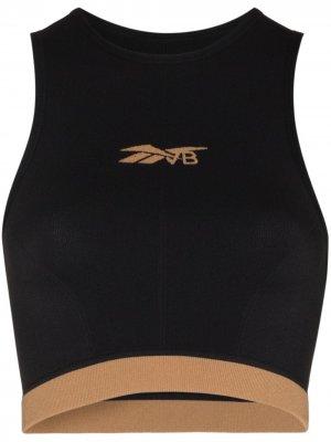 Бесшовный укороченный топ из коллаборации с Victoria Beckham Reebok x. Цвет: черный