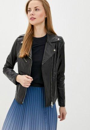 Куртка кожаная Ne.Ra Collezioni. Цвет: черный