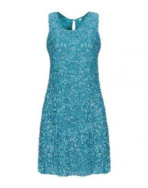 Короткое платье AFTERSHOCK. Цвет: бирюзовый