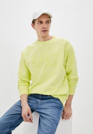 Свитшот Gant Exclusive for Lamoda. Цвет: зеленый