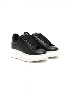 Кроссовки с логотипом Alexander McQueen Kids. Цвет: черный