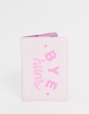 Обложка для паспорта с принтом Вye huns -Розовый цвет Skinnydip