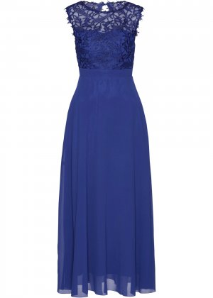 Вечернее платье bonprix. Цвет: синий