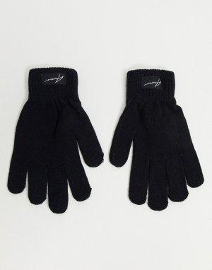 Перчатки с логотипом -Черный цвет Amour