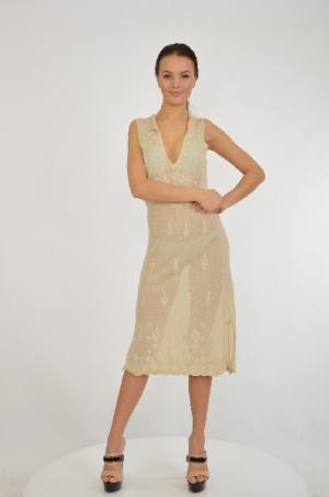 Платье ETINCELLE. Цвет: бежевый