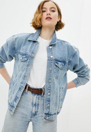 Куртка джинсовая Sela. Цвет: голубой