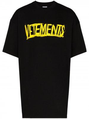 X Big Skull Motorhead logo-print T-shirt Vetements. Цвет: черный