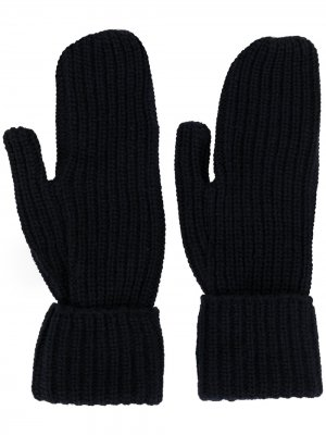 Перчатки Elna в рубчик Wood. Цвет: синий