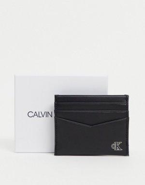 Черная визитница с отделением для монет -Черный Calvin Klein Jeans