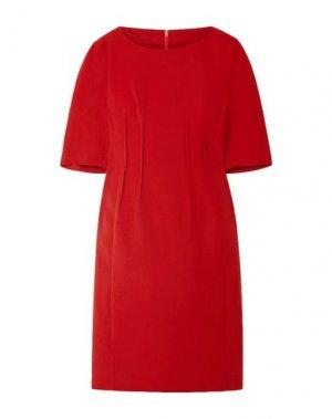 Платье до колена AKRIS. Цвет: красный