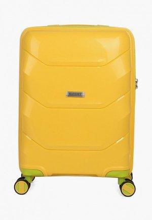 Чемодан Baudet 36,7 л (S). Цвет: желтый
