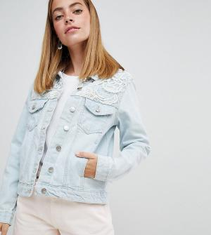 Джинсовая куртка со вставкой кроше Rayola-Синий Brave Soul Petite