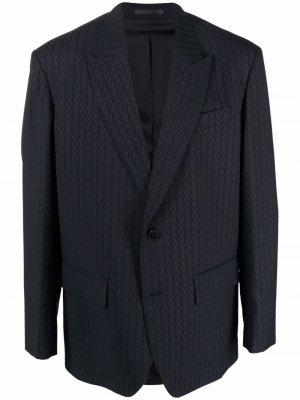 Жаккардовый пиджак с монограммой Valentino. Цвет: синий