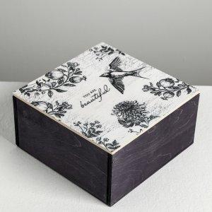 Ящик деревянный с магнитом beautiful, 20 × 10 см Дарите Счастье