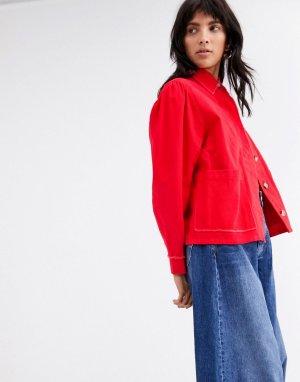 Куртка с бахромой по краю L.F.Markey Marlo-Красный LF Markey