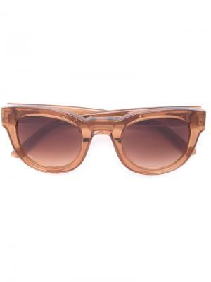Солнцезащитные очки Edie Sun Buddies. Цвет: коричневый