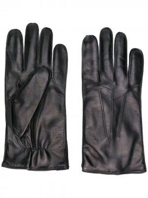 Перчатки с декоративной строчкой Ann Demeulemeester. Цвет: черный
