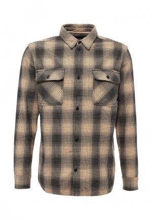 Рубашка Quiksilver. Цвет: бежевый