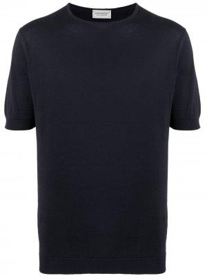 Базовая футболка John Smedley. Цвет: синий