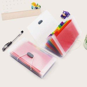 1pc папка-орган с кнопкой Rope SHEIN. Цвет: многоцветный
