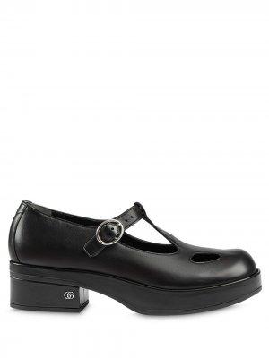 Туфли Мэри Джейн Gucci. Цвет: черный