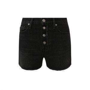 Джинсовые шорты Frame Denim. Цвет: чёрный