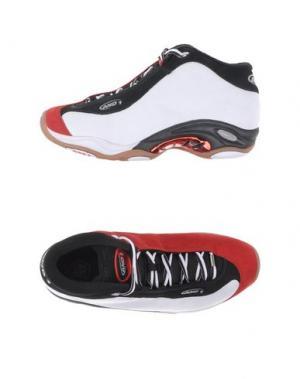 Высокие кеды и кроссовки AND1. Цвет: красный