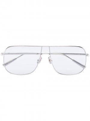 Солнцезащитные очки-авиаторы с прозрачными линзами Ambush. Цвет: серебристый
