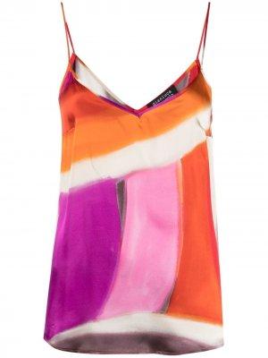 Abstract-print camisole Gianluca Capannolo. Цвет: оранжевый